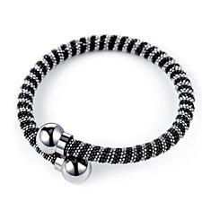 Frank Usher Diamond Cut Sparkle Metal Wrap Bracelet