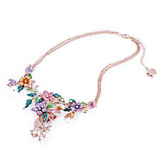 Butler & Wilson Y-Shape Flowers & Leaves Double Chain 43cm Necklace