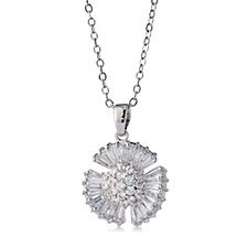 Frank Usher Crystal Cluster Pendant 44cm Necklace with 7cm Extender