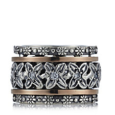 Or-Paz Spinner Ring 9ct Gold Sterling Silver