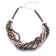 Frank Usher Multi Strand Twisted Crystal 44cm Necklace