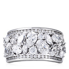 Michelle Mone for Diamonique 4ct tw Cluster Band Ring Sterling Silver