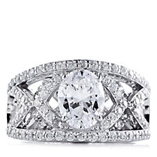 Michelle Mone for Diamonique 3ct tw Layered Ring Sterling Silver