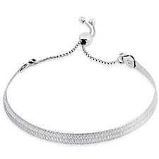 Bianca Platinum Plated Friendship Bracelet Sterling Silver