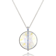 Crystal Glamour with Swarovski Crystals Iridescent Pendant 45cm Necklace