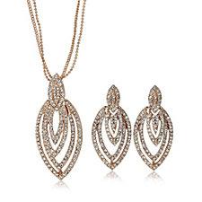 Frank Usher Marquise 38cm Necklace & Earring Set