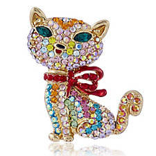 307011 - Butler & Wilson Crystal Cat Brooch