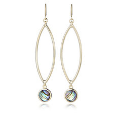 Honora 8mm Abalone Drop Earrings Sterling Silver