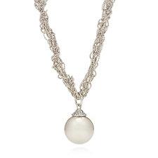 Frank Usher Faux Pearl Pendant 44cm Necklace