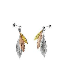 311911 - Azendi Spirited Away Feather Drop Earring Sterling Silver