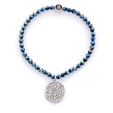 Crystal Glamour with Swarovski Crystals Pave Charm Stretch Bracelet