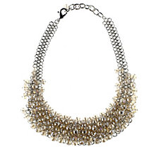 Frank Usher Faceted Crystal Bead Collar 44cm Necklace