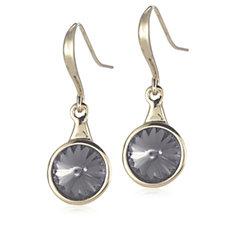 Aurora Swarovski Crystal Rivoli Chaton Round Cut Drop Earrings