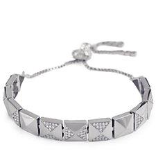 Nour Crystal Pyramid Slider Bracelet
