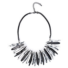 Frank Usher Two Tone Statement 48cm Necklace