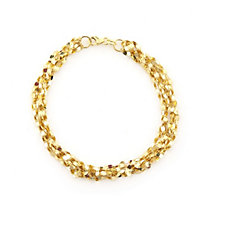 9ct Gold Mirror Multi Strand Bracelet