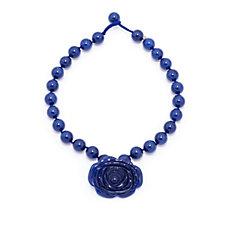 Lola Rose Flat Rose Semi Precious 46cm Necklace