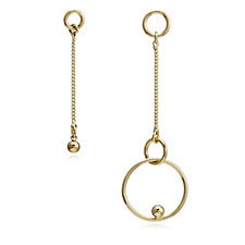 Pilgrim Interlocking Circles Suspended Ball Earrings