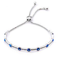 Crystal Glamour with Swarovski Crystals Shimmer Slider Bracelet