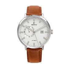 Obaku Men's Utrolig Automatic Leather Strap Watch