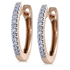 Lisa Snowdon Diamond Huggie Hoop Earrings Sterling Silver