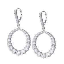 Michelle Mone for Diamonique 11ct tw Hoop Earrings Sterling Silver