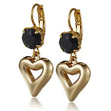 Bibi Bijoux Heart & Crystal Drop Earrings