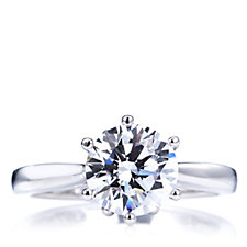 Michelle Mone for Diamonique 3ct tw Solitaire Ring Sterling Silver