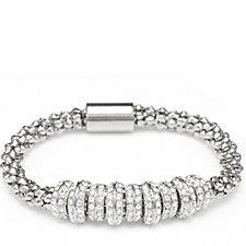 Frank Usher Crystal Wrap Mesh Magnetic Bracelet