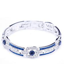 Princess Grace Collection Simulated Sapphire Bracelet