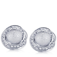 Frank Usher Crystal Brushed Clip On Earrings