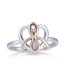 Clogau 9ct Rose Gold & Sterling Silver Dwynwen Opal Ring