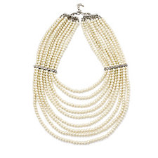 Frank Usher Nine Row Simulated Pearl 65cm Necklace