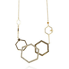 Bill Skinner Hexagon Bee Necklace