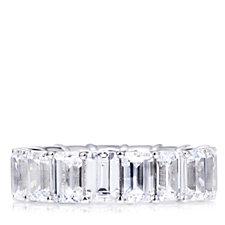 306315 - Michelle Mone for Diamonique 8.5ct tw Emerald Cut Ring Sterling Silver