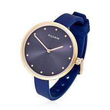 Pilgrim Skinny Silicone Strap Watch
