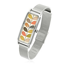 Orla Kiely Ladies Stem Stainless Steel Mesh Strap Watch
