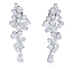 Princess Grace Collection Adjustable Floral Drop Earrings