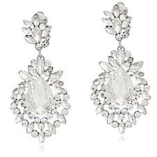 316215 - Frank Usher Crystal Drop Clip On Earrings