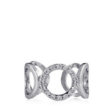 Nour Crystal Pave Open Design Circle Knuckle Ring