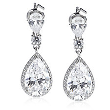 306316 - Michelle Mone for Diamonique 8ct tw Pear Cut Earrings Sterling Silver