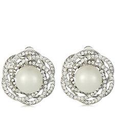 308716 - Frank Usher Crystal & Pearl Clip On Earrings