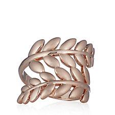 Bronzo Italia Leaf Wrap Ring