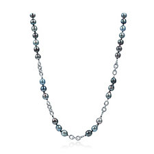 10mm Baroque Tahitian 45cm Necklace Sterling Silver