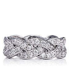 317316 - Diamonique 1.6ct tw Woven Ring Sterling Silver