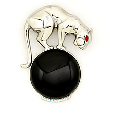 Butler & Wilson Big Cat Enamel Brooch