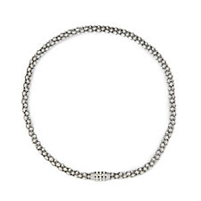 Nour Popcorn Link Magnetic Clasp 47cm Necklace