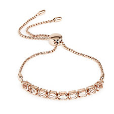 2.9ct Oval Gemstone F/ship Bracelet Gold Vermeil Sterling Silver