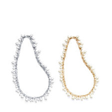 308717 - Frank Usher Set of Two Layering Faux Pearl Necklaces