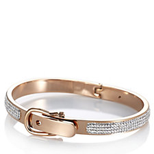 Frank Usher Crystal Buckle Adjustable Hinged Bracelet
